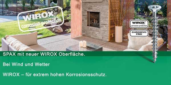 SPAX WIROX Oberfläche