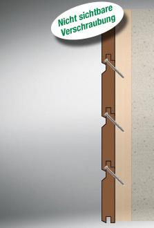 Fassadenbretter unsichtbar befestigen fassadenschrauben Spax mit kleinem Kopf