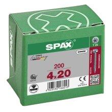 SPAX Halbrundkopf T-STAR plus 4CUT Vollgewinde WIROX A3J  4x20  -  200 Stk