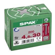 SPAX Halbrundkopf T-STAR plus 4CUT Vollgewinde WIROX A3J  4,5x30  -  200 Stk