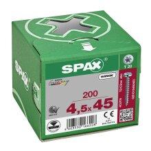 SPAX Halbrundkopf T-STAR plus 4CUT Vollgewinde WIROX A3J  4,5x45  -  200 Stk