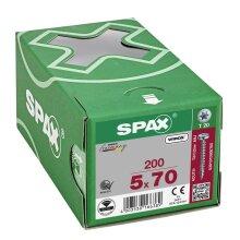SPAX Halbrundkopf T-STAR plus 4CUT Vollgewinde WIROX A3J  5x70  -  200 Stk