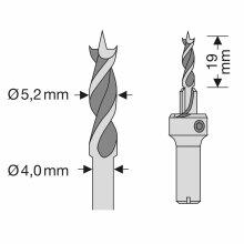 SPAX Bohrer 5,2 mm, Für Holzdielen auf Aluminium,...