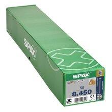 SPAX Senkkopf 8 mm T-STAR plus - Vollgewinde WIROX A3J  T40  -  8x450  -  50 Stk