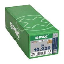 SPAX Senkkopf 10 mm T-STAR plus - Vollgewinde WIROX A3J  T50  -  10x220  -  50 Stk