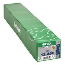 SPAX Senkkopf 12 mm T-STAR plus - Vollgewinde WIROX A3J  T50  -  12x450  -  25 Stk