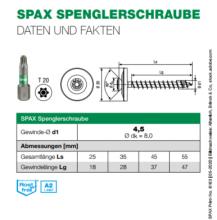 SPAX Spenglerschraube A2 - 20mm Scheibe