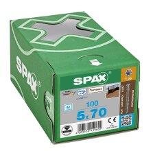 SPAX Terrassenschraube T-STAR plus CUT Fixiergewinde Edelstahl rostfrei A2 1.4567  5x70 - 250 Stk