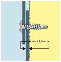 Parco Pianos Profilverbinderschraube verz. 4,2x19  1000 Stk