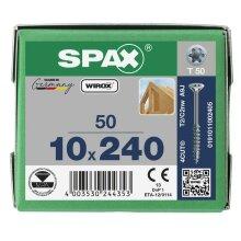 SPAX Senkkopf 10 mm T-STAR plus - Teilgewinde WIROX A3J  T50  -  10x240  -  50 Stk