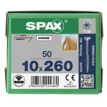 SPAX Senkkopf 10 mm T-STAR plus - Teilgewinde WIROX A3J  T50  -  10x260  -  50 Stk