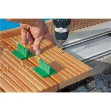 SPAX Terrassenschraube für Aluminium Profile Edelstahl rostfrei A2