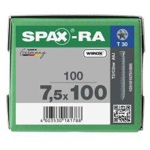 SPAX-RA Zylinderkopf T-STAR plus Vollgewinde WIROX A3J  7,5x100 - 100 Stk