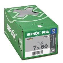 SPAX-RA Flachsenkkopf T-STAR plus Vollgewinde WIROX A3J  7,5x60 - 100 Stk