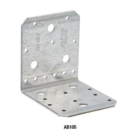 Winkel ohne Rippe verzinkt 90x90x65x2,5 - 1 Stk