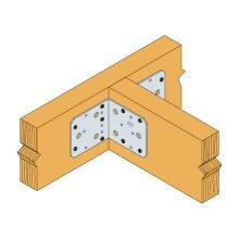 Winkel ohne Rippe verzinkt 90x90x65x2,5 - 50 Stk