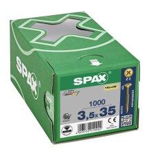 SPAX Senkkopf Kreuzschlitz Z - Teilgewinde YELLOX A2L  PZ2  -  3,5x35  -  1000 Stk