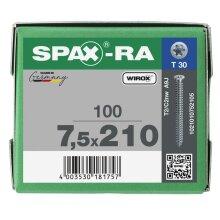 SPAX-RA Flachsenkkopf T-STAR plus Vollgewinde WIROX A3J  7,5x210 - 100 Stk
